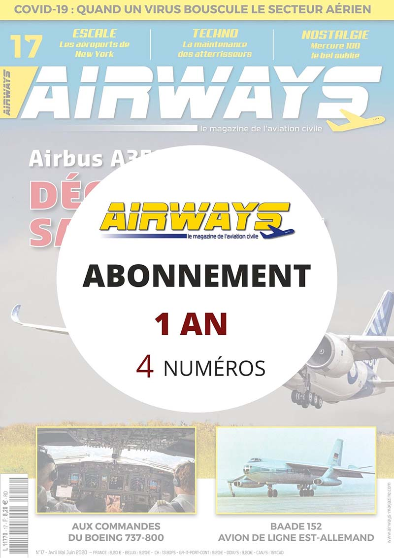 Abonnement AIRWAYS 1 an en FRANCE