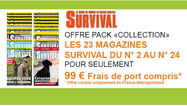 OFFRE PACK COLLECTION SURVIVAL 23 N° DU 2 AU 24