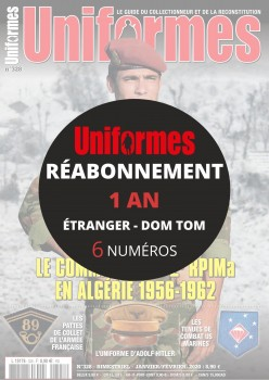 Réabonnement UNIFORMES 1 an Export