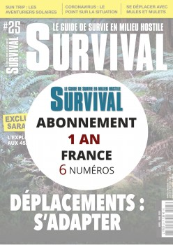 Abonnement SURVIVAL en France 1 an