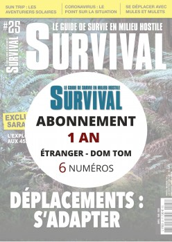 Abonnement SURVIVAL Export Europe DOM TOM 1 an