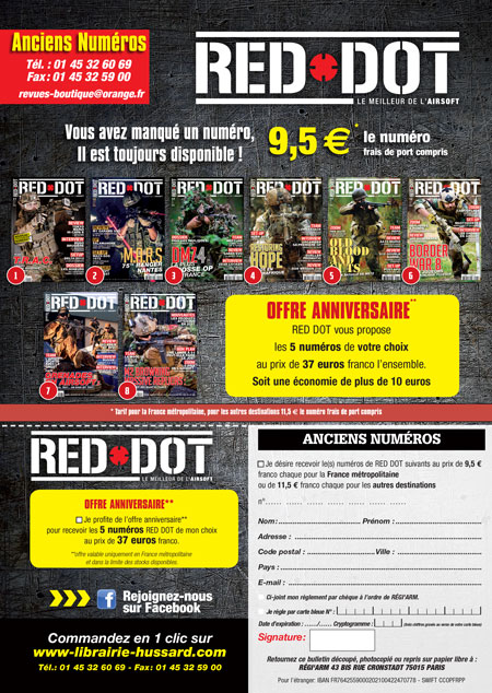 PROMO 5 ANCIENS NUMEROS RED DOT